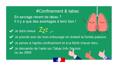 Confinement et tabac Covid-19 avril 2020